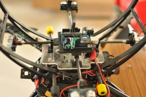 Sonar jig mounted under the drone