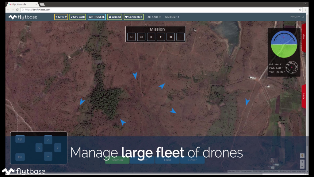 Manage fleet of drones