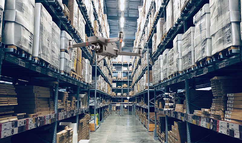 drones in warehousing